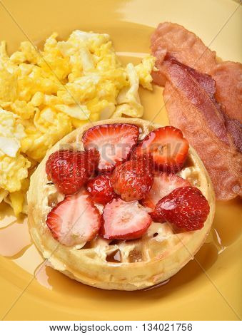 Waffles With Bacon And Eggs