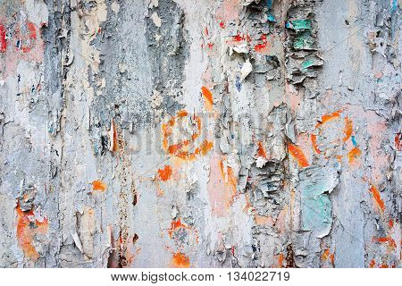 Very grunge and damaged wall background close up