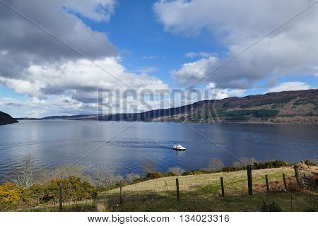 The Famous Lago Ness And Urquhart Castle