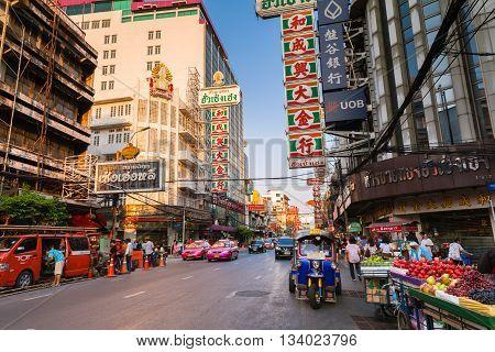 Tuk-tuk Taxi In Chinatown, Bangkok, Thailand