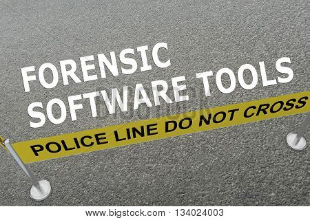 Forensic Software Tools Police Concept