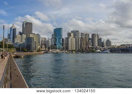 View over Sydney skyline in day time