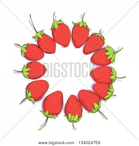 bright strawberries background