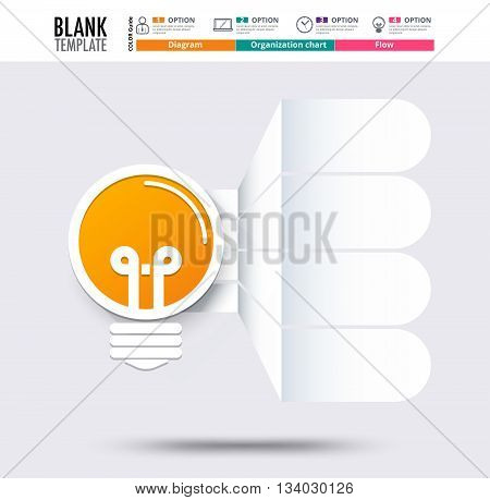 Idea Infographic Template (blank). Idea Graphic Diagram, Vector Stock.