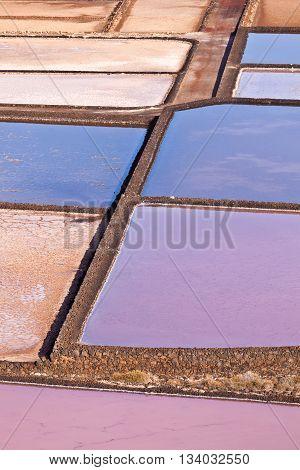 Salt Refinery, Saline From Janubio, Lanzarote
