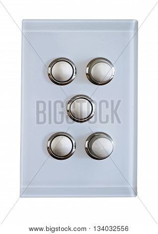 5 buttons for a modern light switch