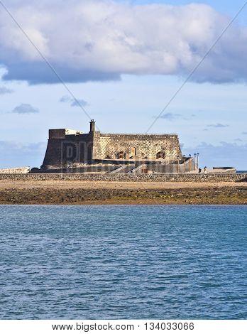 Castle Castillo De San Gabriel In Arrecife; Lanzarote; Canary Islands