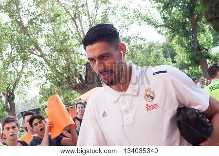 VALENCIA, SPAIN - JUNE 9th: Ayon during 4th playoff match between Valencia Basket and Real Madrid at Fonteta Stadium on June 9, 2016 in Valencia, Spain