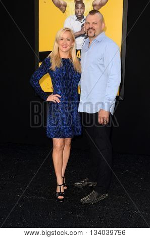 LOS ANGELES - JUN 10:  Heidi Northcott, Chuck Liddell at the Central Intelligence Los Angeles Premiere at the Village Theater on June 10, 2016 in Westwood, CA