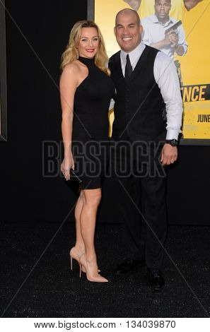 LOS ANGELES - JUN 10:  Amber Nichole Miller, Tito Ortiz at the Central Intelligence Los Angeles Premiere at the Village Theater on June 10, 2016 in Westwood, CA