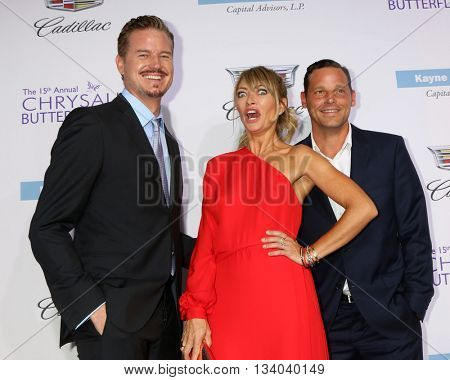 LOS ANGELES - JUN 11:  Eric Dane, Rebecca Gayheart, Justin Chambers at the 15th Annual Chrysalis Butterfly Ball at the Private Residence on June 11, 2016 in Brentwood, CA