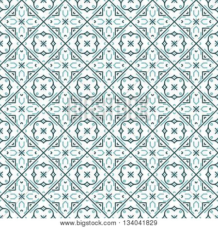 Abstract Seamless Pattern. Arabic Vector background. Curly line tiles