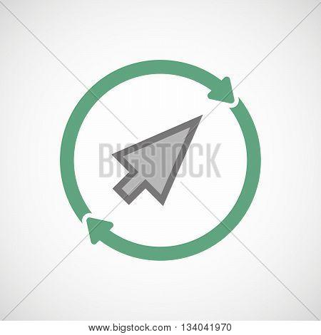 Reuse Line Art Sign With A Cursor