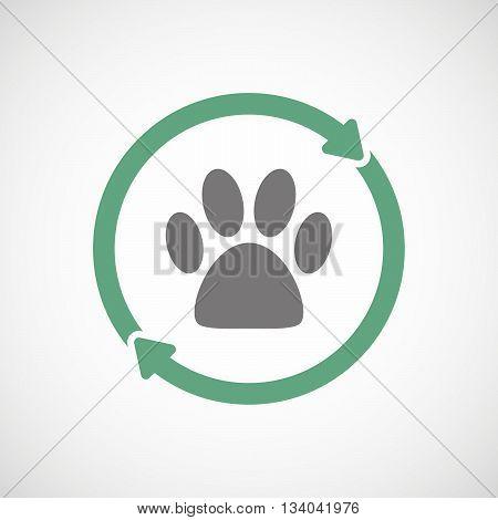 Reuse Line Art Sign With An Animal Footprint