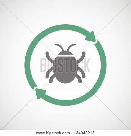 Reuse Line Art Sign With A Bug