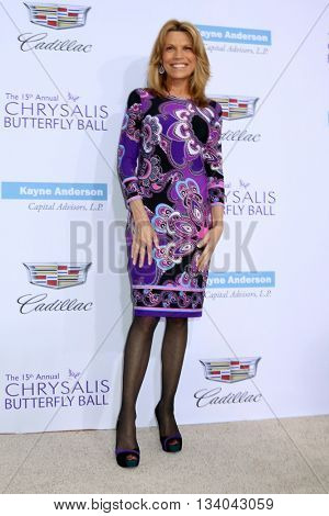 LOS ANGELES - JUN 11:  Vanna White at the 15th Annual Chrysalis Butterfly Ball at the Private Residence on June 11, 2016 in Brentwood, CA