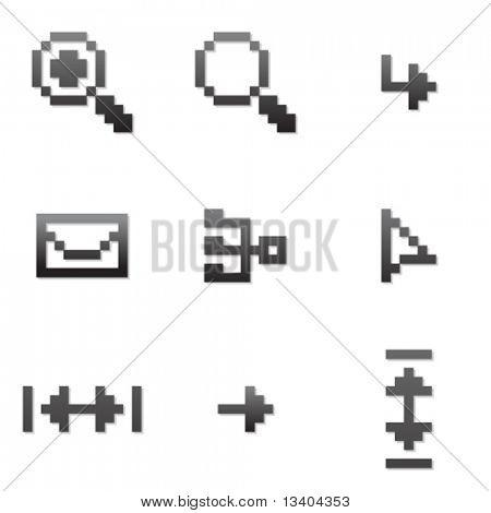 Vector pixel icon set 3