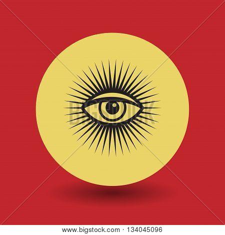 Abstract Eye Of Providence symbol, vector illustration