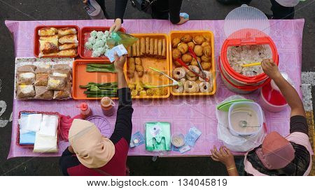 Kota Kinabalu,Sabah,Malaysia - March 14,2016: Street local foods in Segama,Kota Kinabalu,Sabah. Kota Kinabalu is one of the most vibrant and popular food capitals in the borneo.