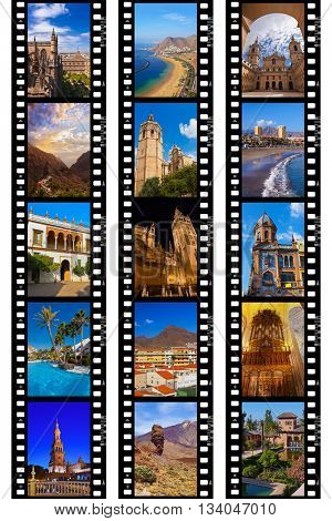 Frames of film - Spain travel images (my photos) - nature and architecture background