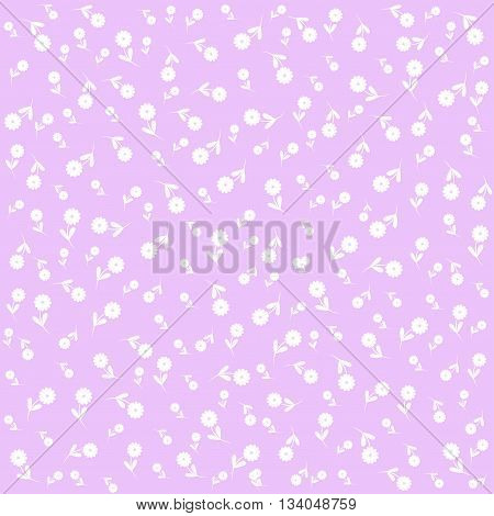 Elegant background of lilac color with white flowers
