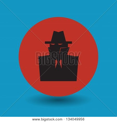 Abstract Secret spy symbol or sign, vector illustration