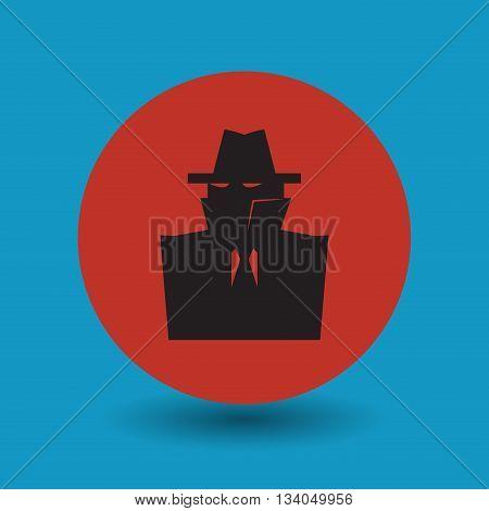 Abstract Secret spy symbol or sign, vector illustration