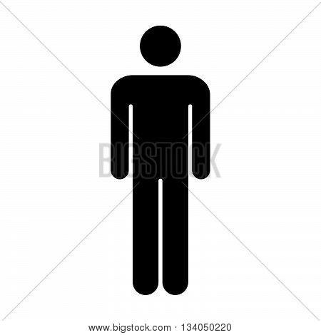 Man Icon - Male, Gentleman, Human, People Pictogram Symbol Icon in Flat Color Vector illustration.