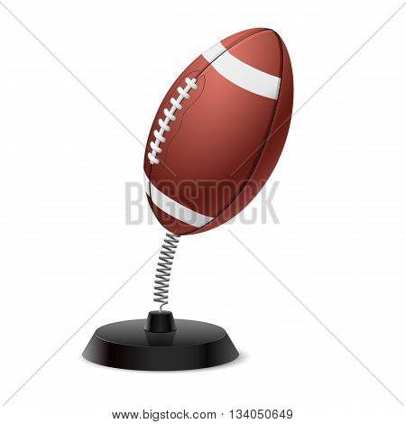 Table souvenir in form of ball for American football on spring
