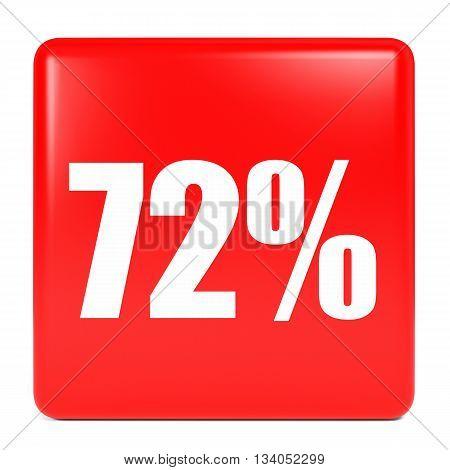 Discount 72 Percent Off. 3D Illustration.