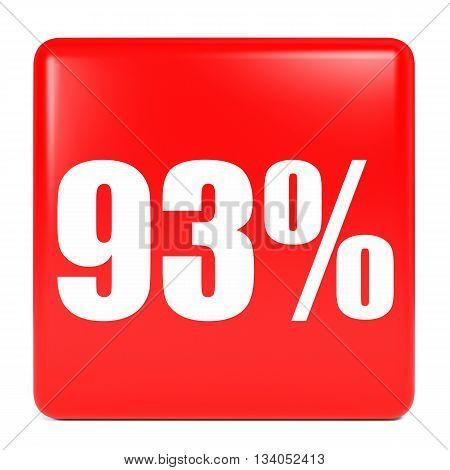Discount 93 Percent Off. 3D Illustration.