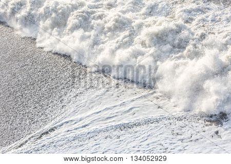 Big Wave at black beach Iceland