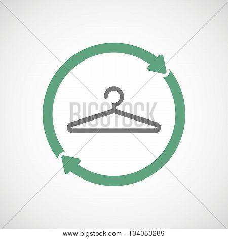 Reuse Line Art Sign With A Hanger