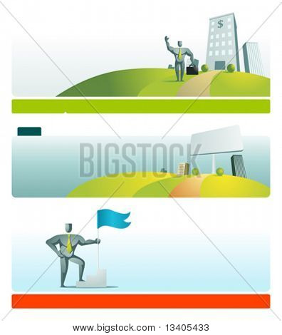 Web site header vector template set 5