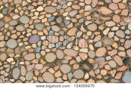 Decorative Floor Pattern Of Gravel Stones, Gravel Texture Background