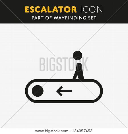 Vector elevator icon. Stair sign. Walk man