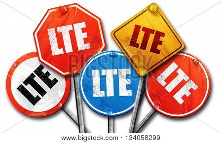 lte, 3D rendering, rough street sign collection