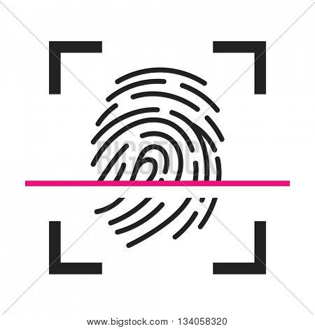 Finger print scanning icon