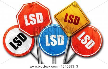 lsd, 3D rendering, rough street sign collection