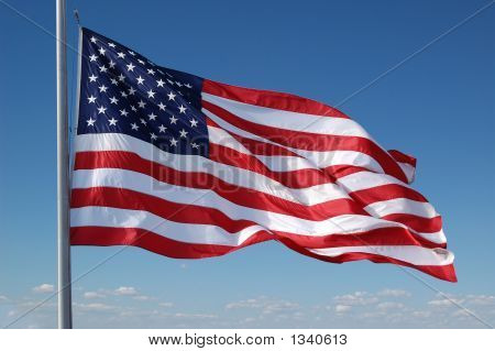 American Flag Flying