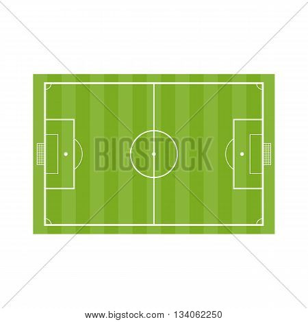 Football field. Vector Soccer field in flat stryle isolated on a white background