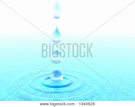 Falling Drops Of Water.