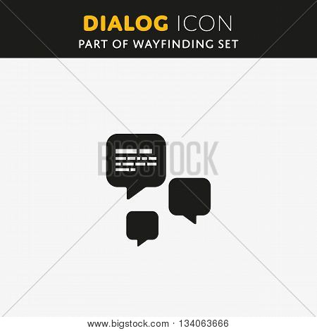 Speech bubble icon. Vector Dialog sign. Illustration symbol
