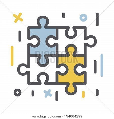 Puzzle piece icon..Vector thin line  business  concept icon isolated on a white background