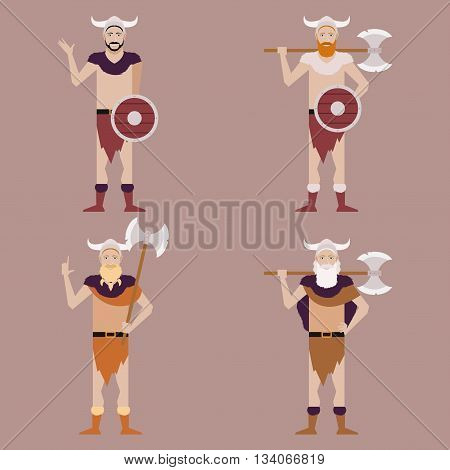 Vector image of the set of Barbarians