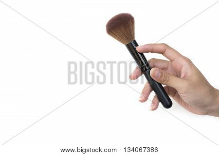 Professional Makeup Brush In Women's Hand