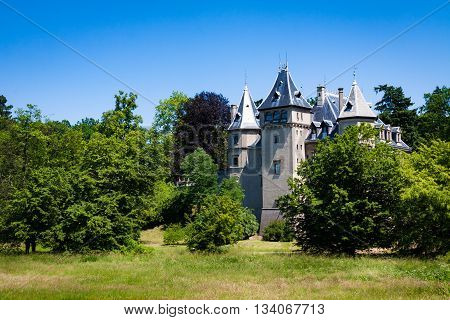 French Renaissance style castle located in Goluchow Poland.