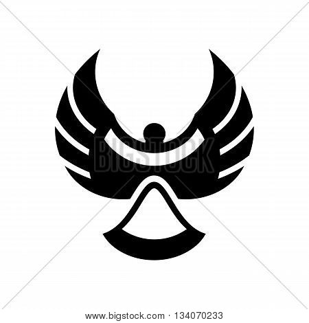 Abstract magpie bird silhouette vector illustration isolated on white background.