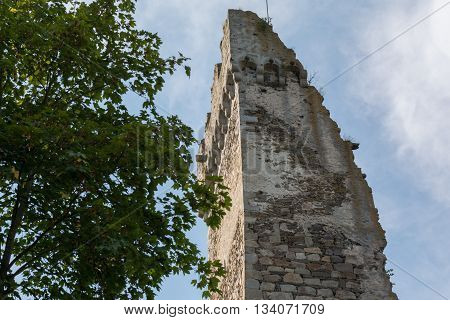 preserved tower of the medieval castle Schaunberg - Austria