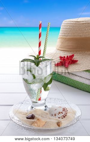 Summer Drink And Beach Accesories